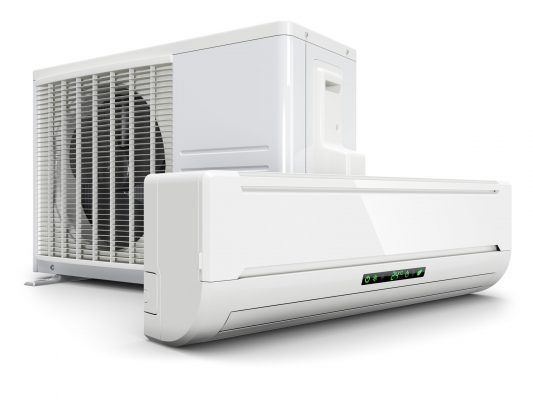 Air conditioning split system isolated on white background 3d